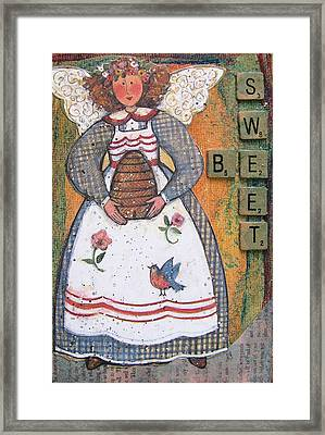 Framed Print featuring the painting Be Sweet Altered Art Mixed Media by Barbara Giordano