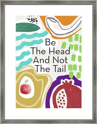 Be The Head- Art By Linda Woods Framed Print