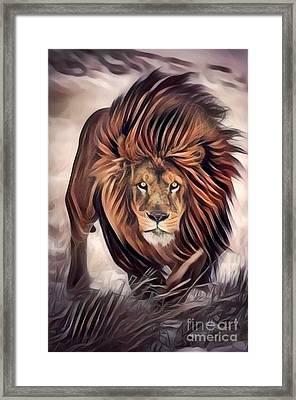 Be The Lion  Framed Print