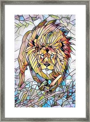 Be The Lion - Stained Glass Framed Print
