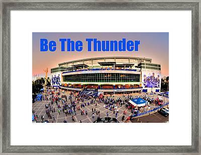 Be The Thunder Framed Print