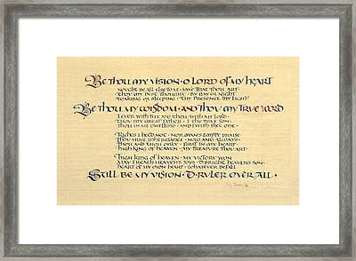 Be Thou My Vision Framed Print