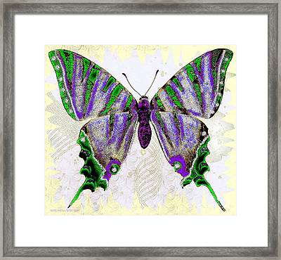 Be Who U R Butterfly Framed Print