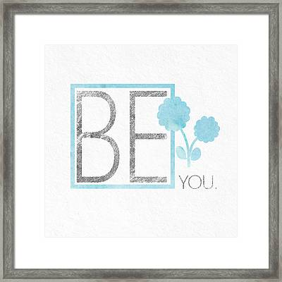 Be You Silver Framed Print