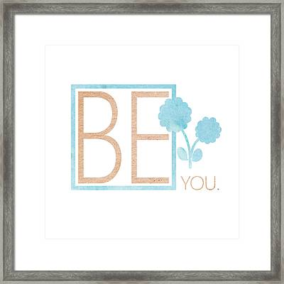 Be You Bronze Framed Print by Sabine Jacobs