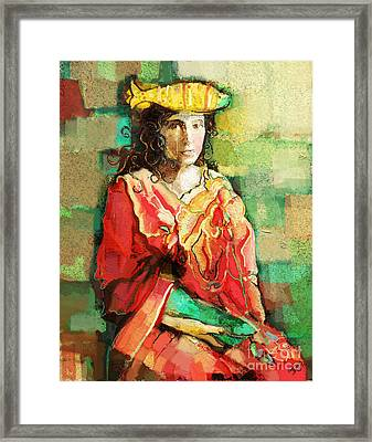 Framed Print featuring the painting Be You by Carrie Joy Byrnes