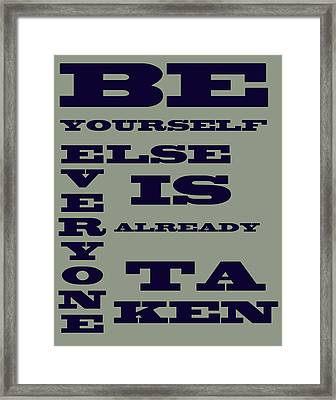 Be Yourself Framed Print by Georgia Fowler