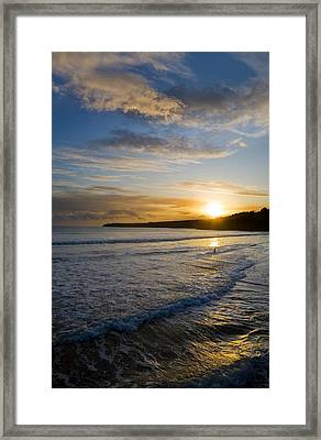 Beach & Great Newtown Head, Tramore Framed Print by Panoramic Images