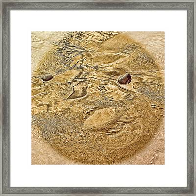 Framed Print featuring the photograph Beach Abstract by Dale Stillman