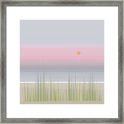 Beach Abstract - Square Framed Print