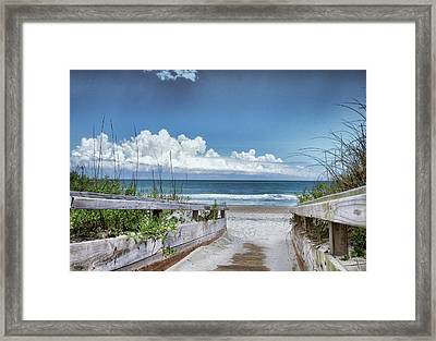 Beach Access Framed Print