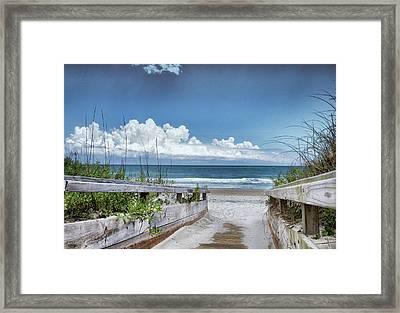 Beach Access Framed Print by Phil Mancuso