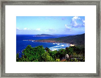 Beach And Cayo Norte From Mount Resaca Framed Print