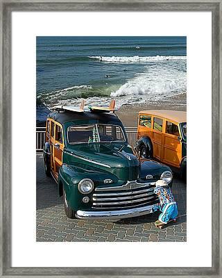 Beach And Wood Framed Print