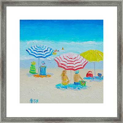 Beach Art - Balmy Summers Day Framed Print by Jan Matson