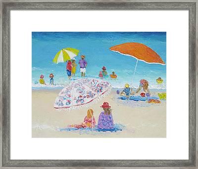 Beach Art - Beach Vacation Framed Print by Jan Matson
