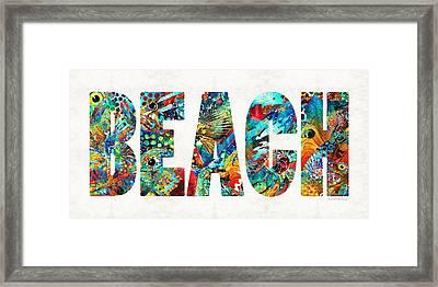 Beach Art - Beachy Keen - By Sharon Cummings Framed Print