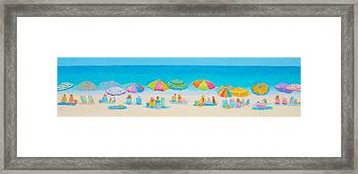 Beach Art - Crazy Lazy Summer Days Framed Print by Jan Matson