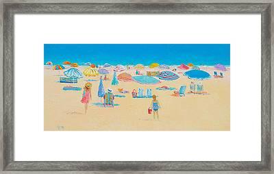 Beach Art - Every Summer Has A Story Framed Print by Jan Matson