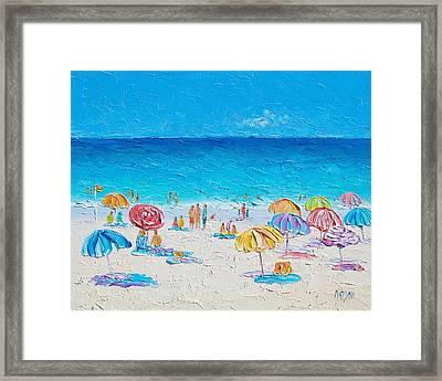 Beach Art - First Day Of Summer Framed Print by Jan Matson