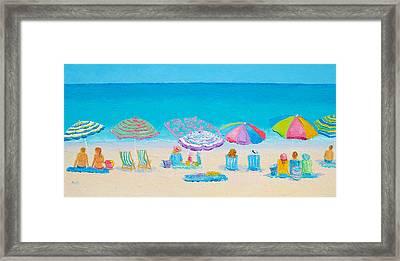 Beach Art - Live By The Sun Framed Print by Jan Matson