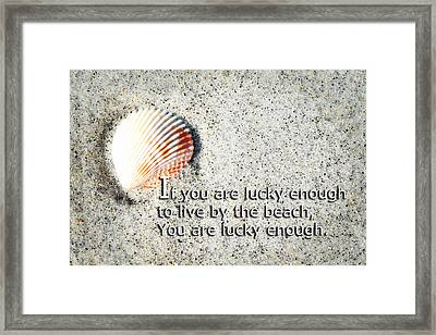 Beach Art - Lucky Enough - Sharon Cummings Framed Print by Sharon Cummings