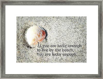 Beach Art - Lucky Enough - Sharon Cummings Framed Print