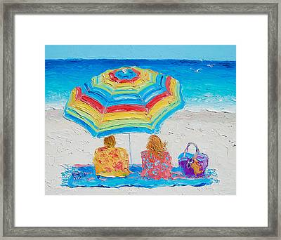 Beach Art - Perfect Day Framed Print