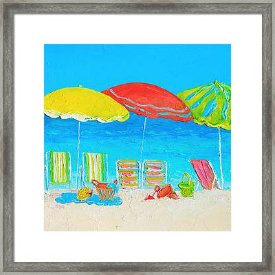 Beach Art - Summer Days Are Here Again Framed Print by Jan Matson