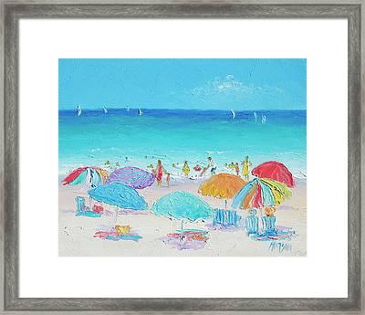 Beach Art - Summer Framed Print by Jan Matson