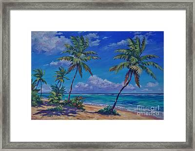 Beach At Bodden Town Framed Print