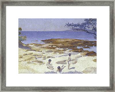 Beach At Cabasson Framed Print