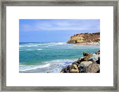 Beach At Del Mar, California Framed Print