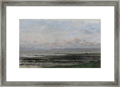 Beach At Ebb Tide Framed Print by Charles-Francois Daubigny