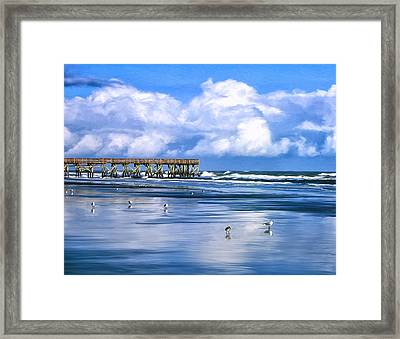 Beach At Isle Of Palms Framed Print