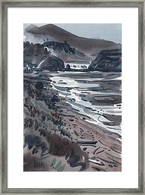 Beach At Jenner Framed Print by Donald Maier