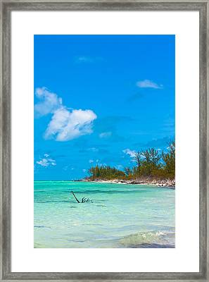 Beach At North Bimini Framed Print