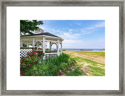 Beach At Rock Hall Framed Print