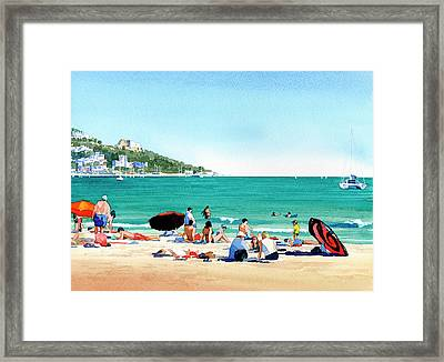 Beach At Roses, Spain Framed Print