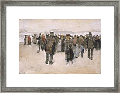 Beach At Scheveningen 1882 Framed Print by Vincent Van Gogh