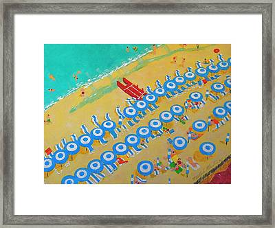 Beach At Sorrento Framed Print
