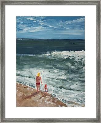 Beach Babes II Framed Print by Pete Maier