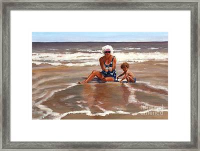 Beach Babes Framed Print by Pat Burns