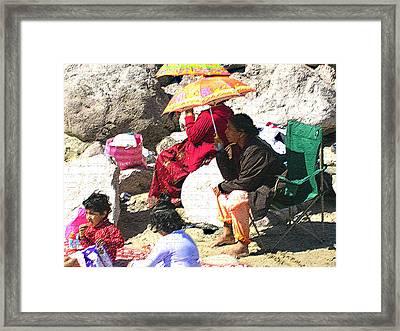 Beach Babies 1 Framed Print by Robin Hernandez