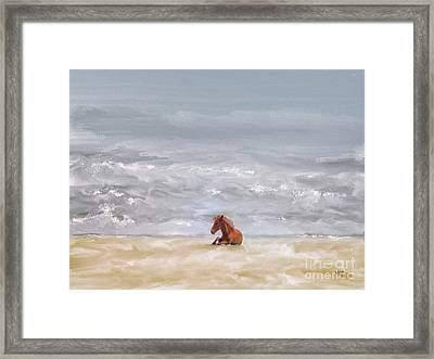 Framed Print featuring the photograph Beach Baby by Lois Bryan