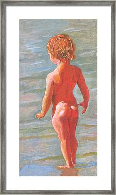 Beach Baby Framed Print by Robert Bissett