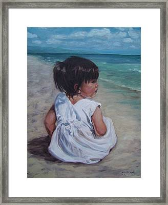 Beach Baby Framed Print by Tahirih Goffic