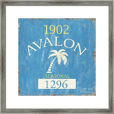 Beach Badge Avalon Framed Print by Debbie DeWitt
