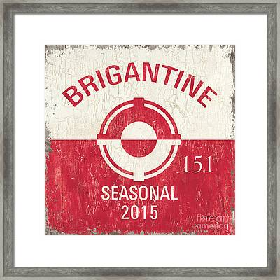 Beach Badge Brigantine Framed Print