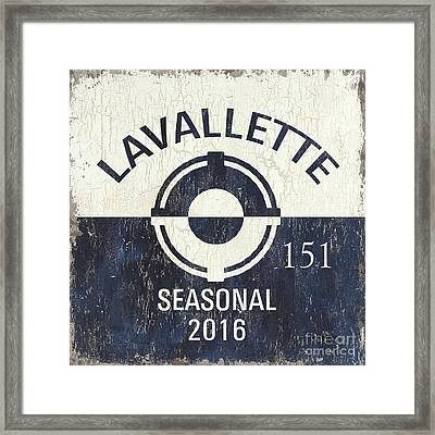 Beach Badge Lavalette Framed Print